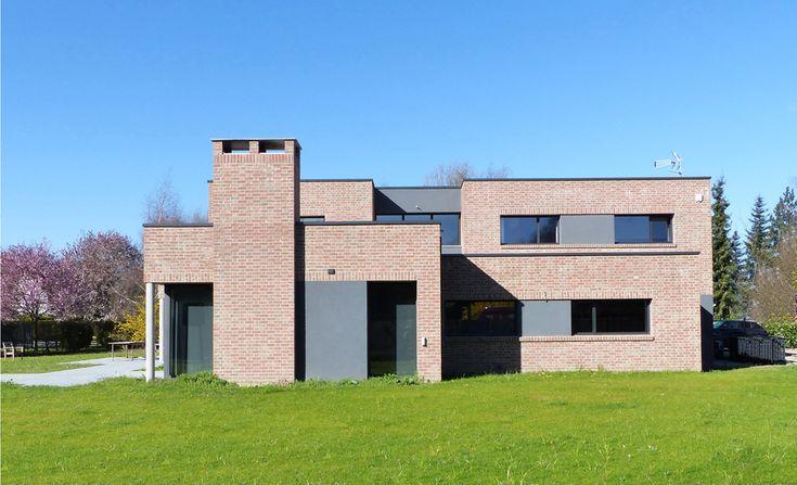 Maisons cubiques en briques de Bertrand Pouwels