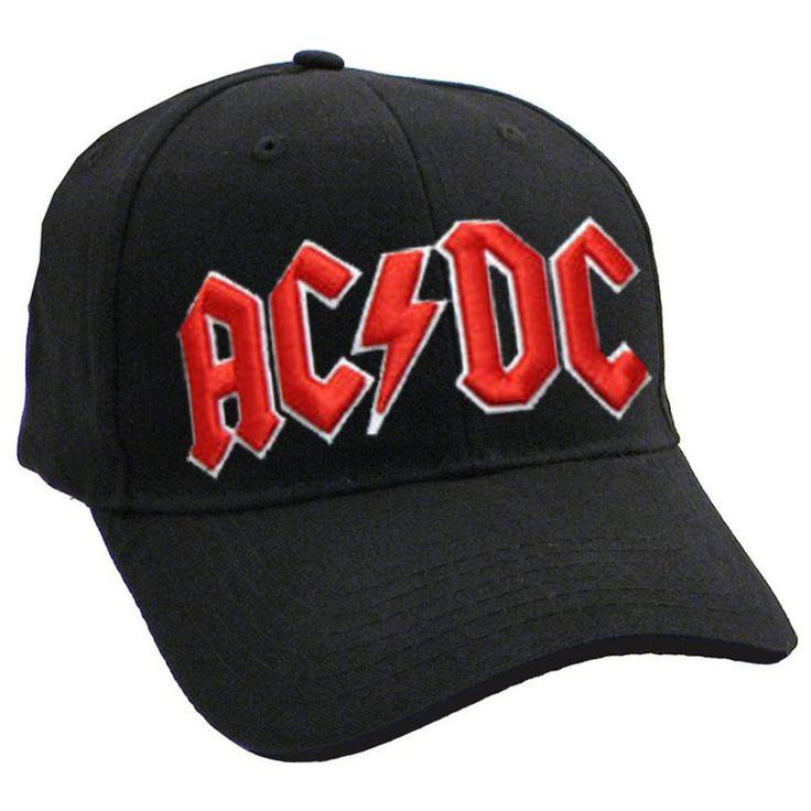 ac dc classic red on white black frayed baseball cap clothing flash funko pop comics superheroes washington capitals