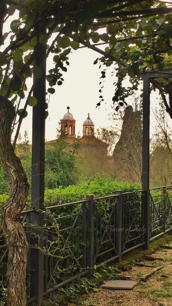 View from Cecilia Metella restaurant walkway, Appia Antica, Rome