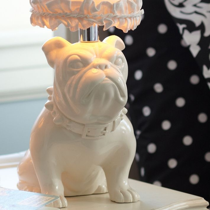 PB Teen White Bulldog Lamp: Boxers Not Dogs But, English Bulldogs, Dream House, Bulldog Lamp, Bulldog Table, Pb Teen, Beagle Lamp