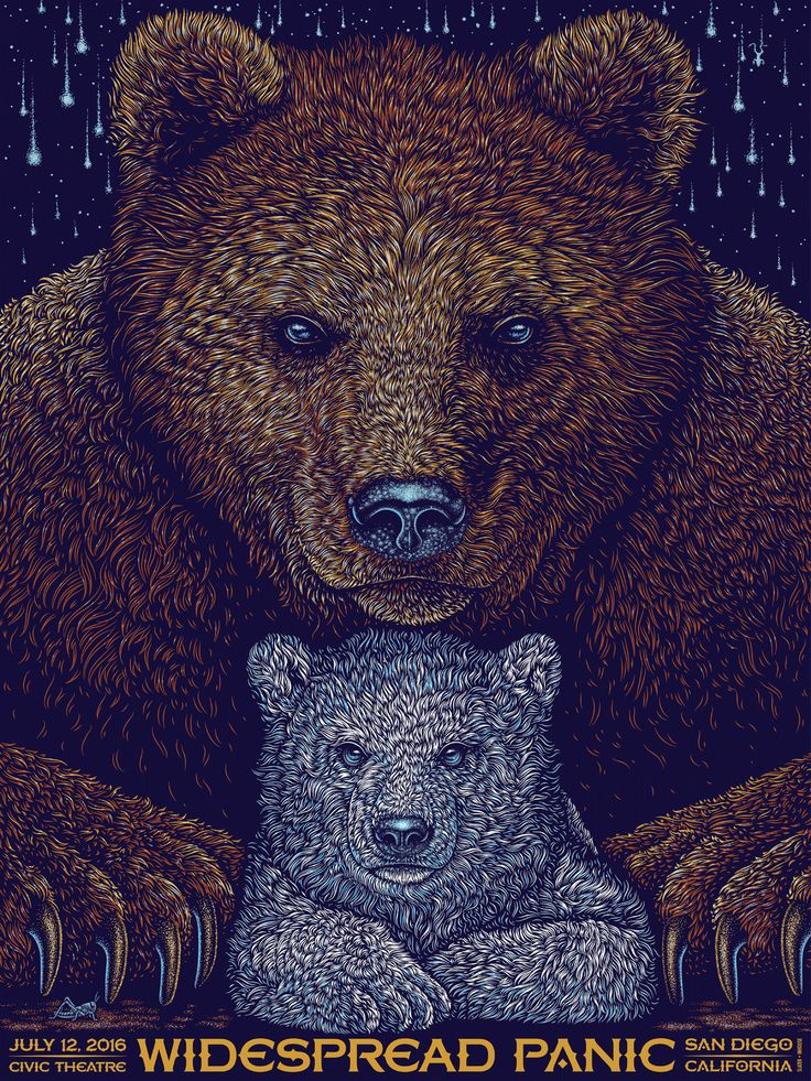 Widespread Panic gig poster by Todd Slater #gigposter
