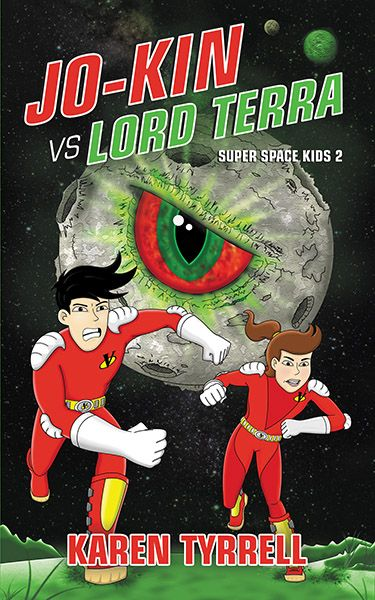 Karen Tyrrell, award winning author launches Jo-Kin vs Lord Terra on Amazon in print and ebook. Blast off with gadgets, robots and funky food in a hilarious outer space adventure that enlightens yo…