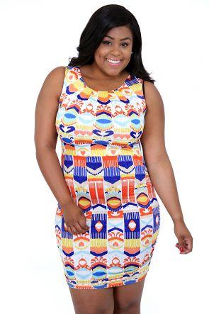 Perfekt Multi Farver Dress