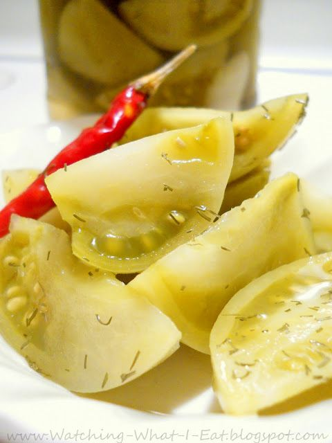 easy homemade kosher dill pickled green tomatoes