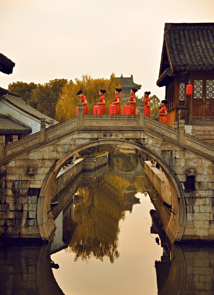 Picturesque scenery of Jiangnan,  Suzhou, China.