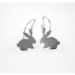 Silver Bunny Earrings #christening #kids #jewellery