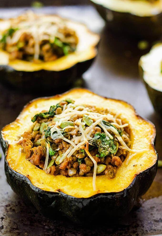Stuffed Acorn Squash Recipe High Protein Vegan Recipes Vegan