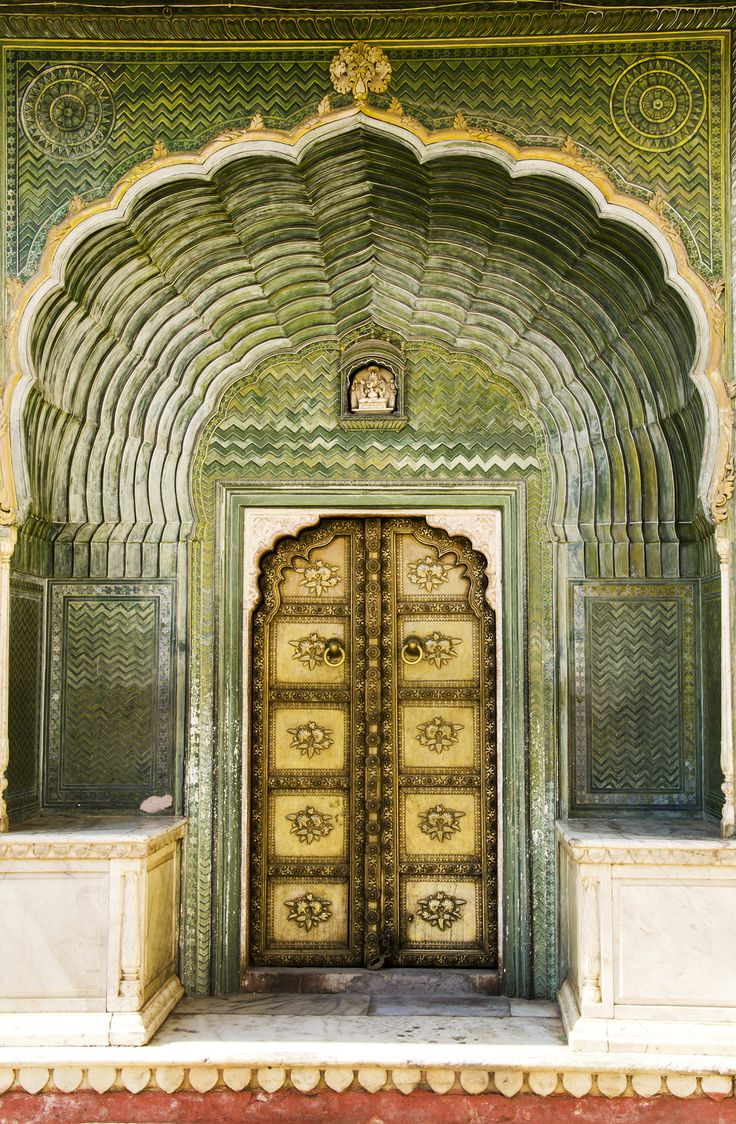 Door of Ganesha in City Palace - Jaipur, Rajasthan, India