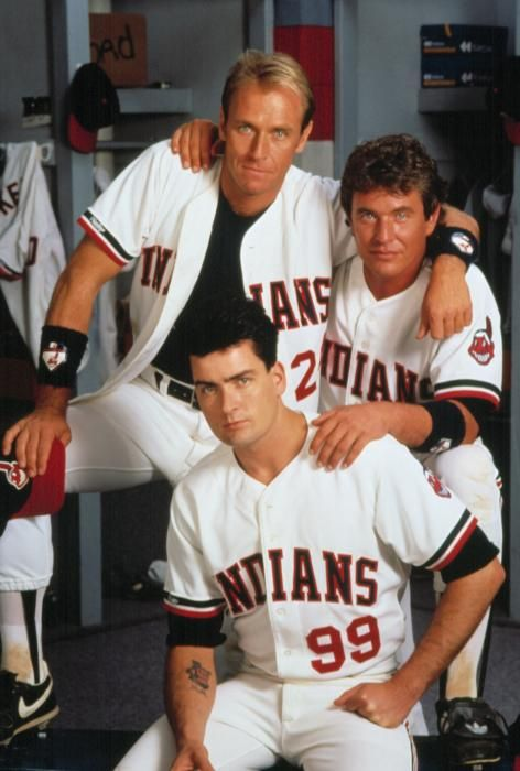 MAJOR LEAGUE, Corbin Bernsen, Tom Berenger, Charlie Sheen, 1989