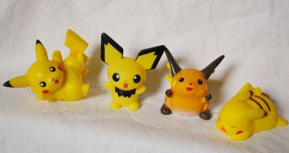 Bandai Pokemon Kids Pichu Pikachu Raichu by CuteSparklesAnime, $10.00