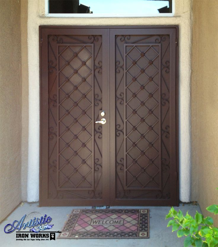 Used Iron Door Grill Designs Interior Wrought Iron Door: 17 Best Images About Wrought Iron Security Doors On