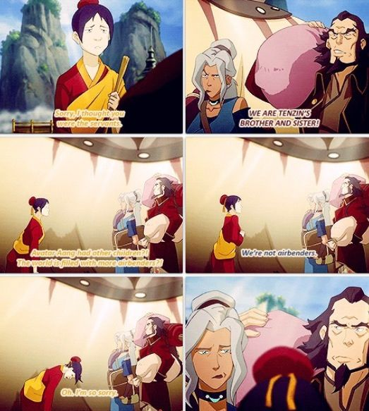 I felt bad for them Cause they weren't getting as much attention as Tenzin :/