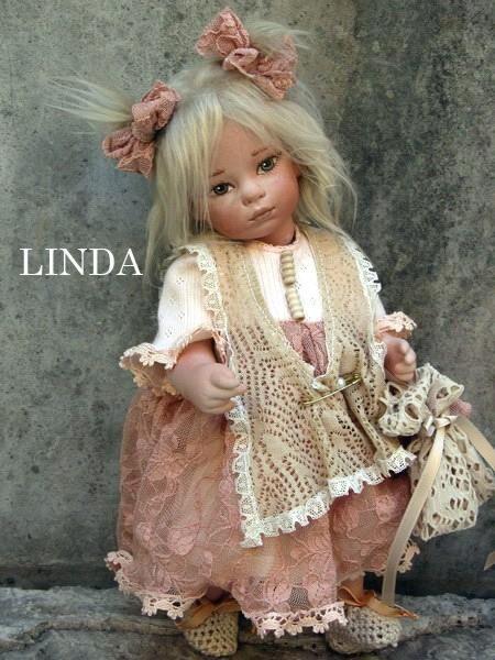 Linda Doll, Dolls collectable china - porcelain Montedragone Dolls -