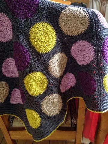 Franck live: Babytæppe med prikker del 2. Hæklet tæppe crochet blanket