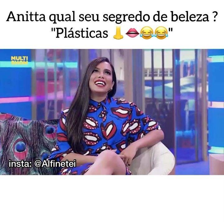 """117.2 mil curtidas, 3,865 comentários - Alfinetadas Dos Famosos 📌 (@alfinetei) no Instagram: """"Rainha né mores, não acredito que foi a Anitta que inventou a sinceridade"""""""