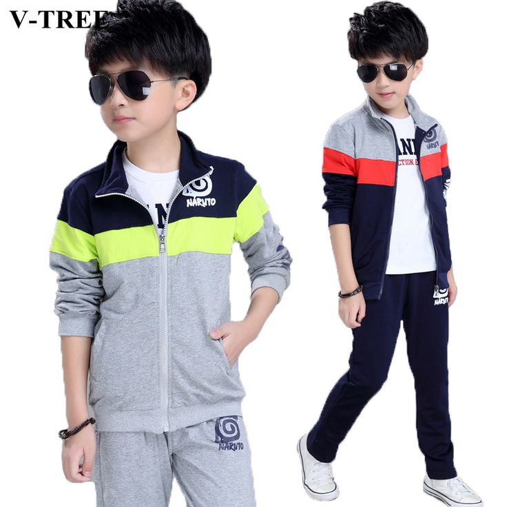 >> Click to Buy << V-TREE Spring Autumn Boys Clothing Sets Naruto Sport Suits For Teenage Boy Children's Jacket + Pants Kids School Uniform Clothes #Affiliate