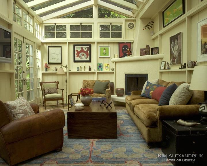 Atrium Room / Living Room.  Arts & Crafts, Eclectic, Earthy, Organic, Artwork.