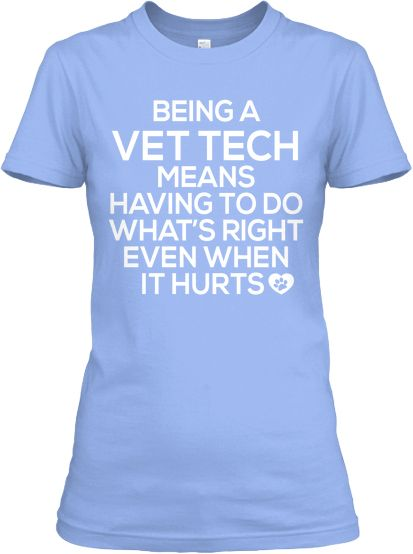 Saw this one and thought of our Vet Tech students.  Kudos to all you guys do!    #vettech #veterinarytechnician