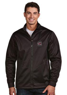 Antigua Black South Carolina Mens Golf Jacket