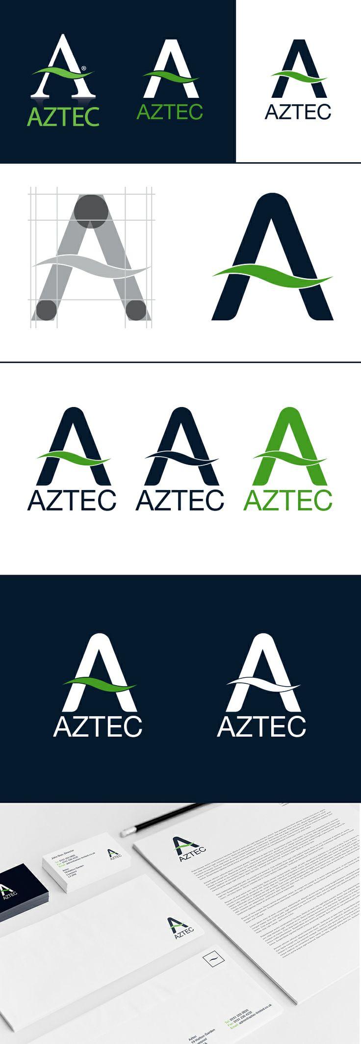 Logo development for Aztec Interiors. Modernising logo
