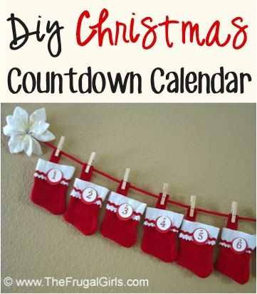 Christmas Countdown Calendar Craft! ~ from TheFrugalGirls.com ~ such a fun craft for the kids to count down the days until Christmas! #thefrugalgirls