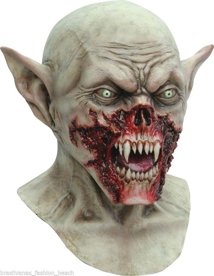 Deluxe Realistic Halloween Costume Kurten Vampire Mask Demon Horror Creature