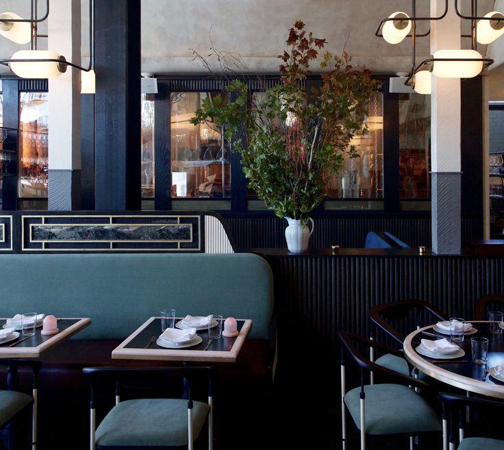 home studios home studiorestaurant interiorsstudioshomeslos - Beaded Inset Restaurant Interior