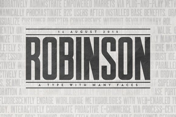 Robinson Typeface by Tugcu Design Co. on @creativemarket
