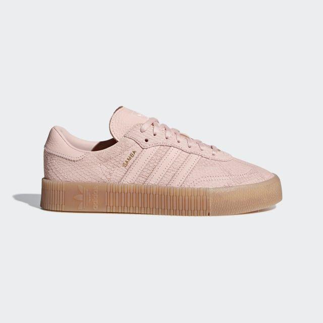 basket adidas dentelle rose