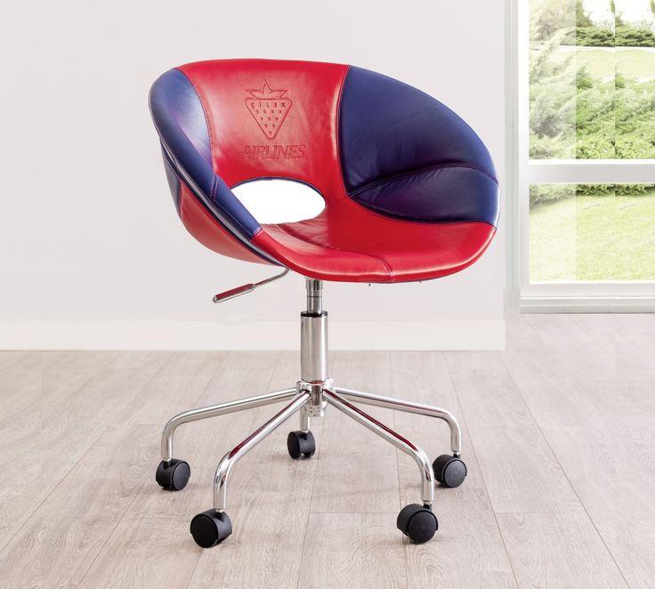Cilek Pilot Schreibtischsessel Nicht nur für Vielflieger und Langzeit - Schreibtisch - Nutzer, ist dieser moderne und bequeme Schreibtischsessel die allererste Wahl.       Passend beispielsweise zur Cilek First Class...