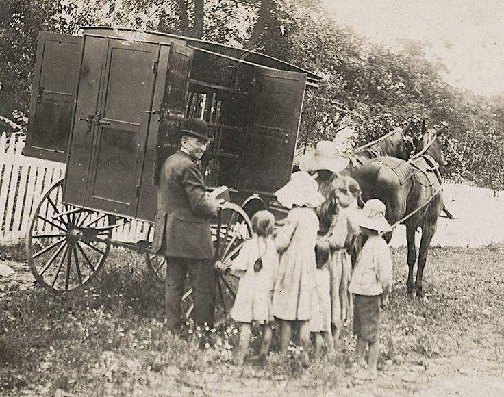 Mary Titcomb used this horse-drawn cart to deliver books to rural areas in Maryland.