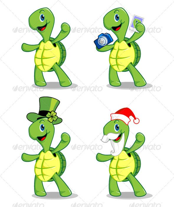 Turtle Mascot Available On : 1. Fotolia.com 2
