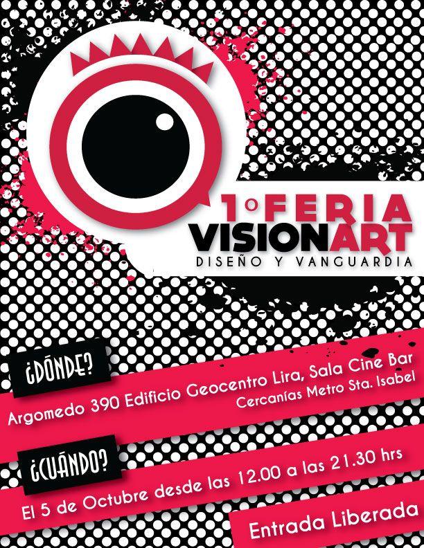 Afiche Primera Feria VisionArt