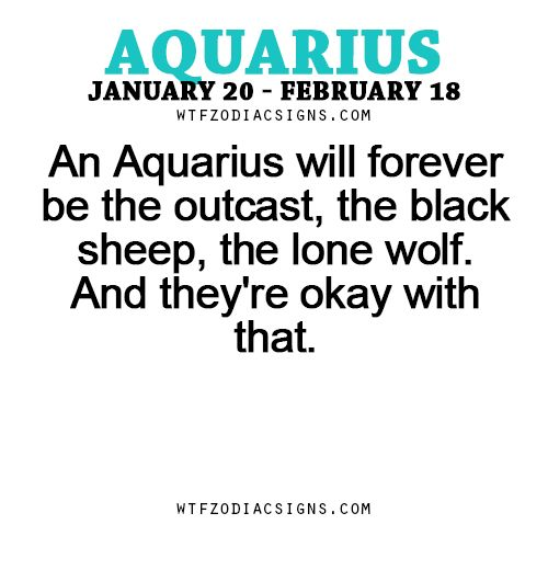 An Aquarius will forever be the outcast, the black... - fun zodiac ...