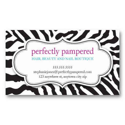 196 best business card templates images on pinterest business business card bold zebra print pattern black white get that designer look without the reheart Images