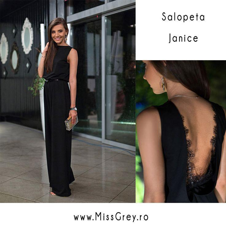 Alege salopeta Janice pentru un look elegant si comod in acelasi timp.