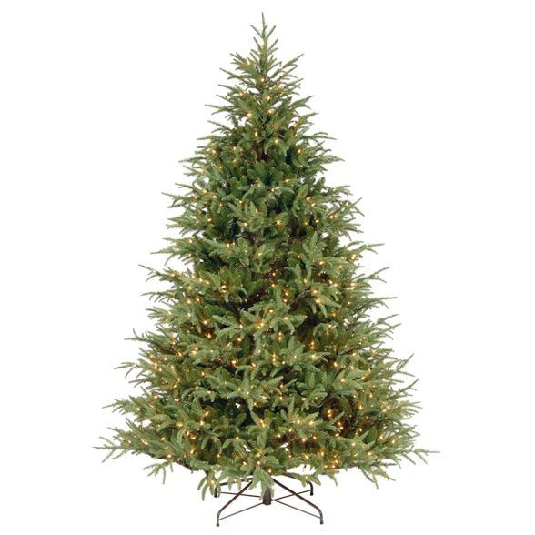 National Tree Company Full 7 5ft Frasier Grande Artificial Tree Clear Target Christmas Tree Clear Lights Artificial Christmas Tree Beautiful Christmas Trees