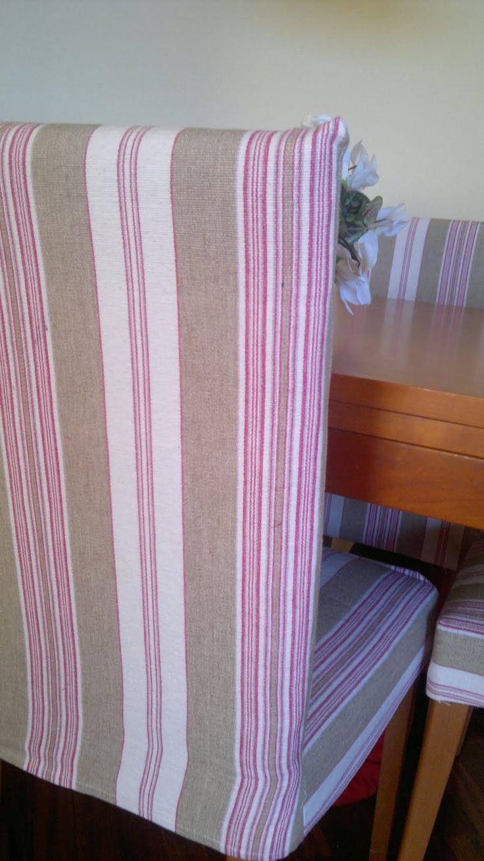 Fundas para las sillas de comedor ( costura) ~ Juntitoscrafts punto y manualidades                                                                                                                                                                                 Más