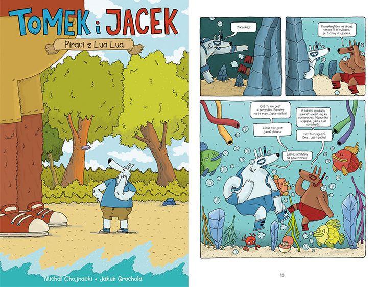 """""""Tomek i Jacek. Piraci z Lua Lua"""", wyd. Egmont, okładka i plansza z komiksu, fot. materiały promocyjne"""