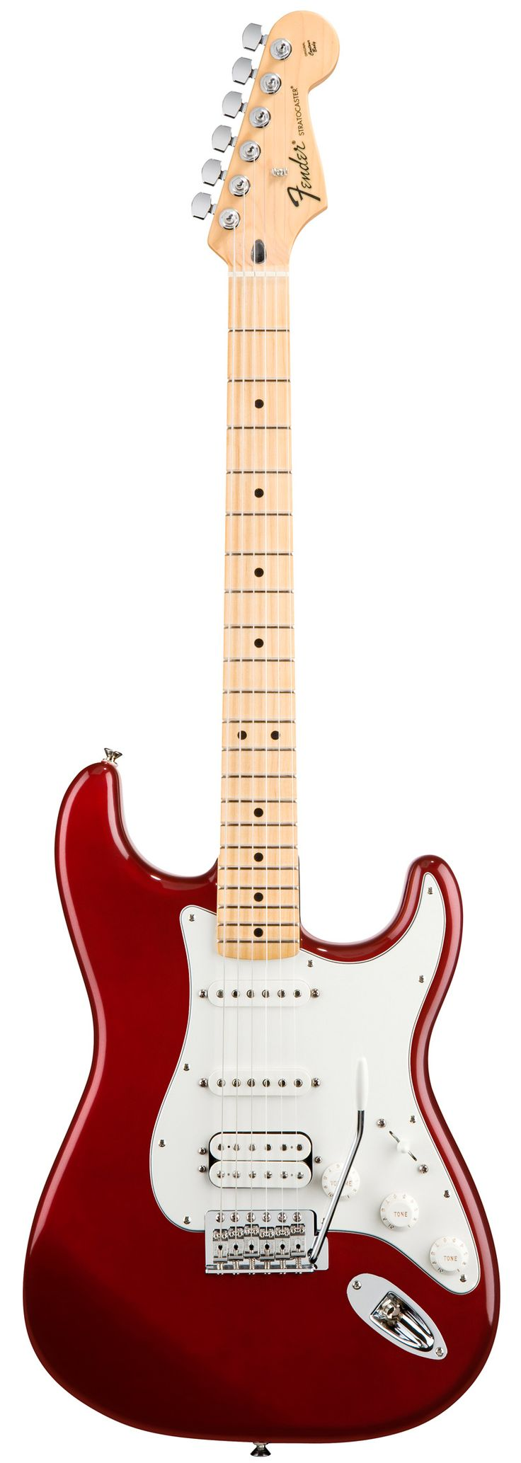 Fender Standard Stratocaster HSS Electric Guitar Candy Apple Red Gloss Maple Fretboard