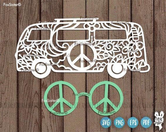 f08d3e9d256da Hippie Van Svg Van Svg Peace Svg Car Svg Camper Svg   Cricut   Vans ...
