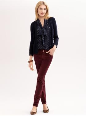 the polka dots and oxblood cords are adorable. i even love the leopard flats - Banana Republic