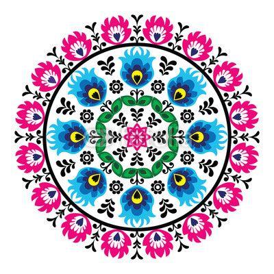 Zdjęcie Polish traditional folk pattern in cirle | Fototapety | Dekoracje Na Wymiar