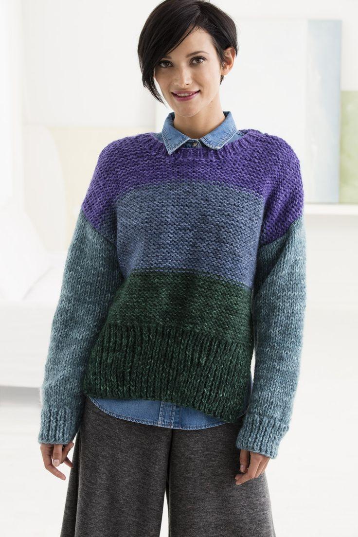 Chelsea Market Pullover (Knit) - Patterns - Lion Brand Yarn Knit Love Pin...