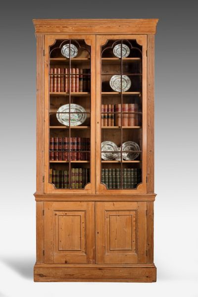 George III Period Pine Bookcase (c. 1780 England) from Windsor House Antiques Ltd - The UK's Premier Antiques Portal