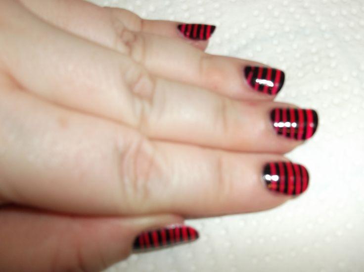 JulieG polish (Oh Em Gee & Black Sheep) stripes
