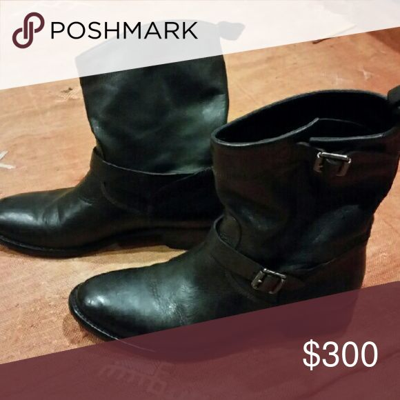 Boots Leather Ankle Belstaff Shoes Ankle Boots & Booties