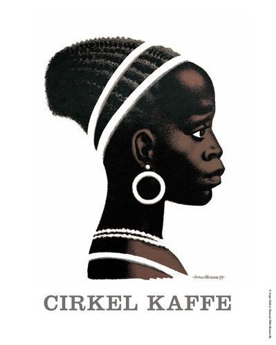 Cirkelpigen design by Aage Sikker Hansen (1897-1955) for COOP and Dansk Kaffekompagni A/S, Denmark 1950