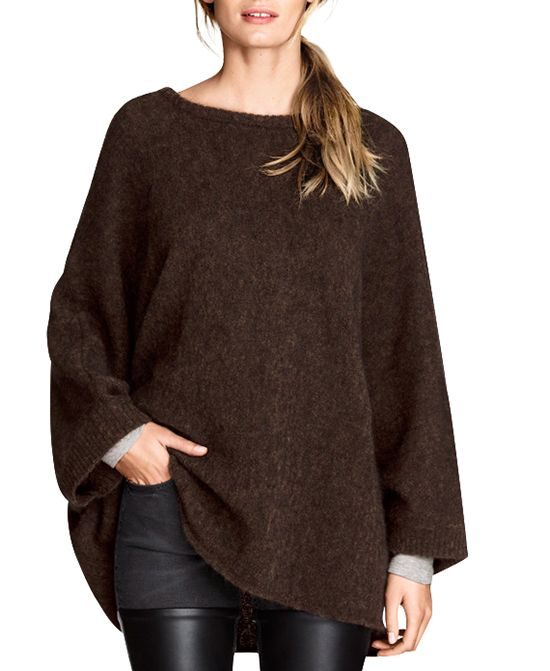 Pure Color Loose Fit Medium Style Sweater