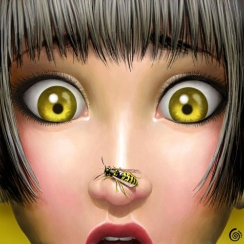 My daughter when she see's a bee!!
